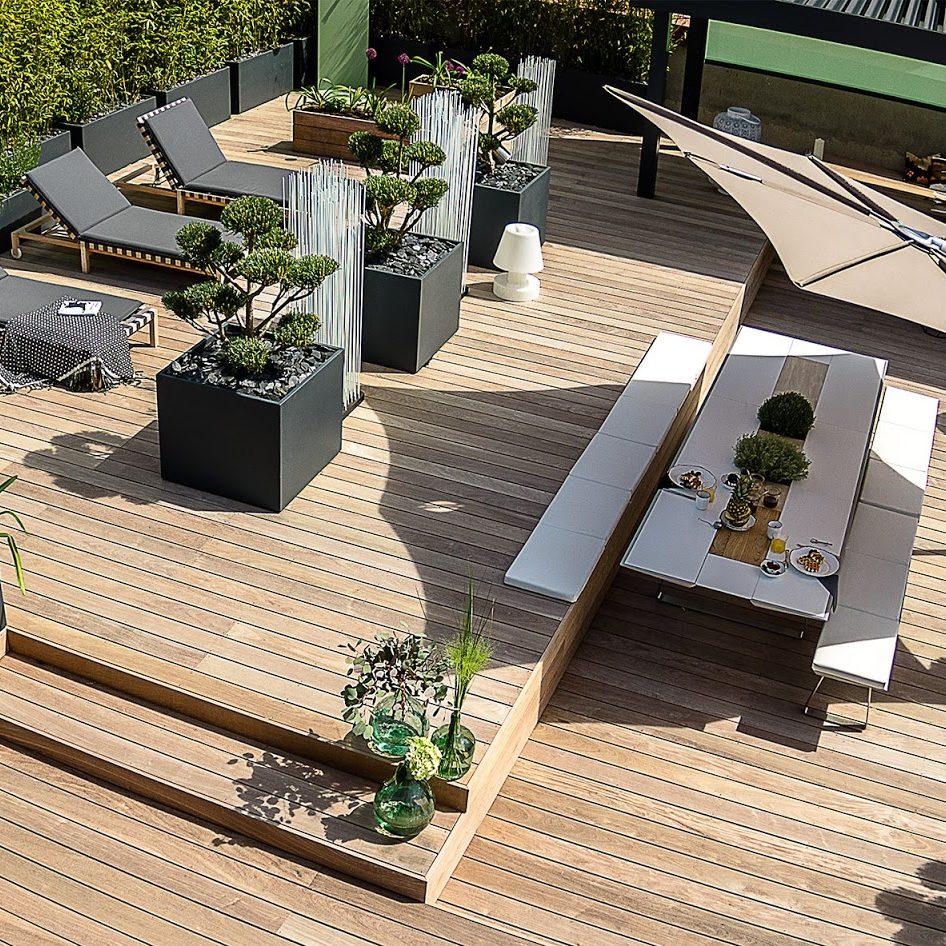 bacs image'in bambous en brise vue - aménagement terrasse & balcon