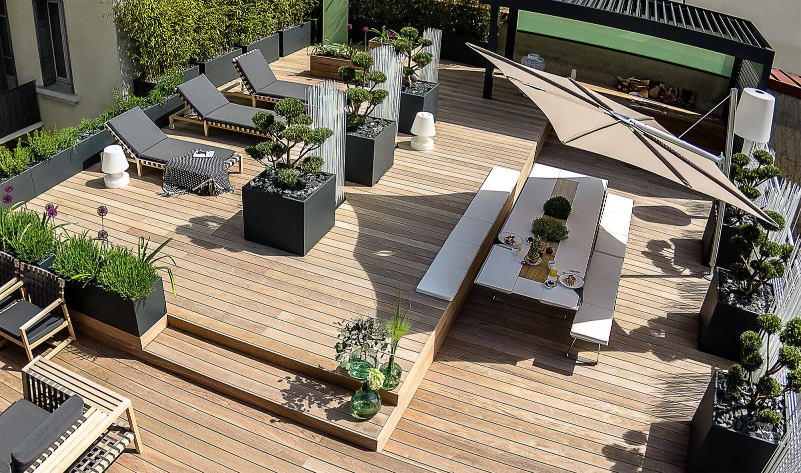 image 39 in grands bacs fleurs pour arbustes et bambous sur toit terrasse. Black Bedroom Furniture Sets. Home Design Ideas