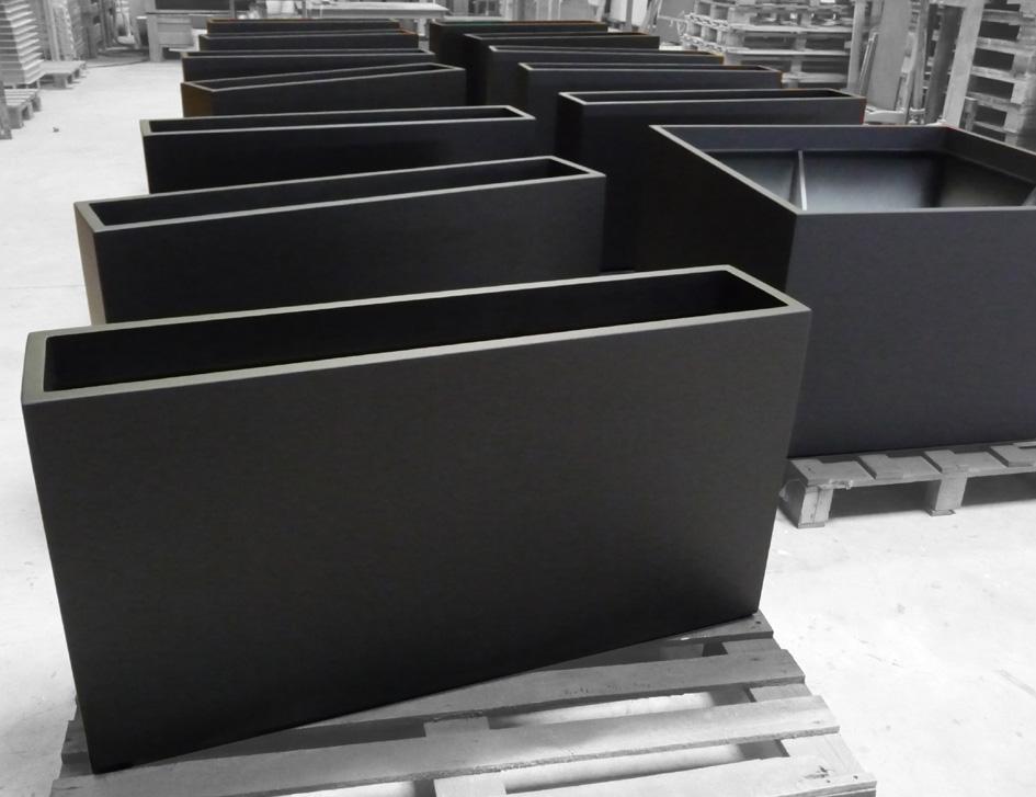 IRF & ICB - Jardinière sur mesure IMAGE\'IN - Noir Zinc Mat - ATELIER ...