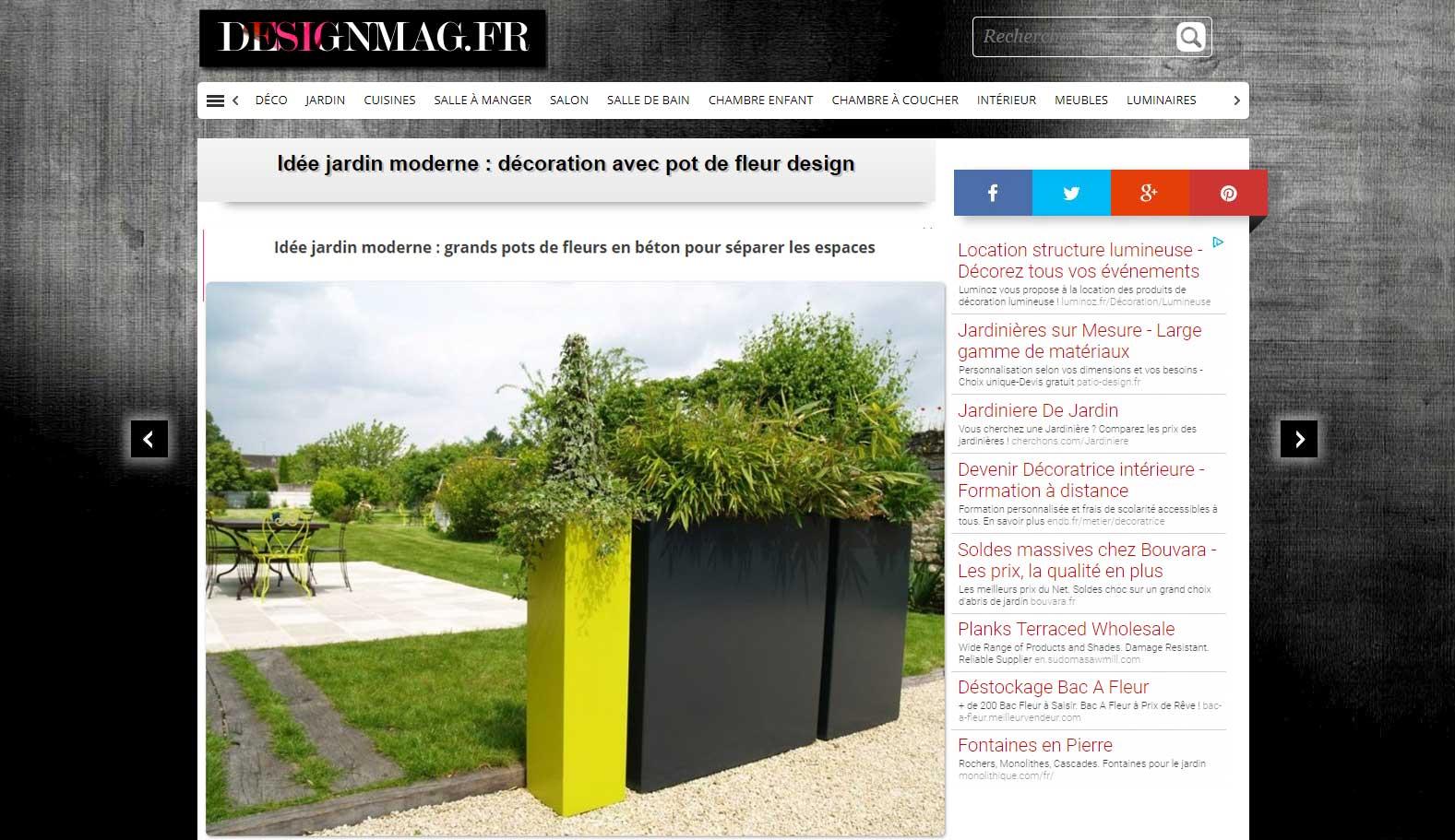 IMAGEu0027IN Planters In The DESIGNMAG.FR Garden Ideas Portfolio. U003e View The  Portfolio U201cIdée Jardin Moderne ...