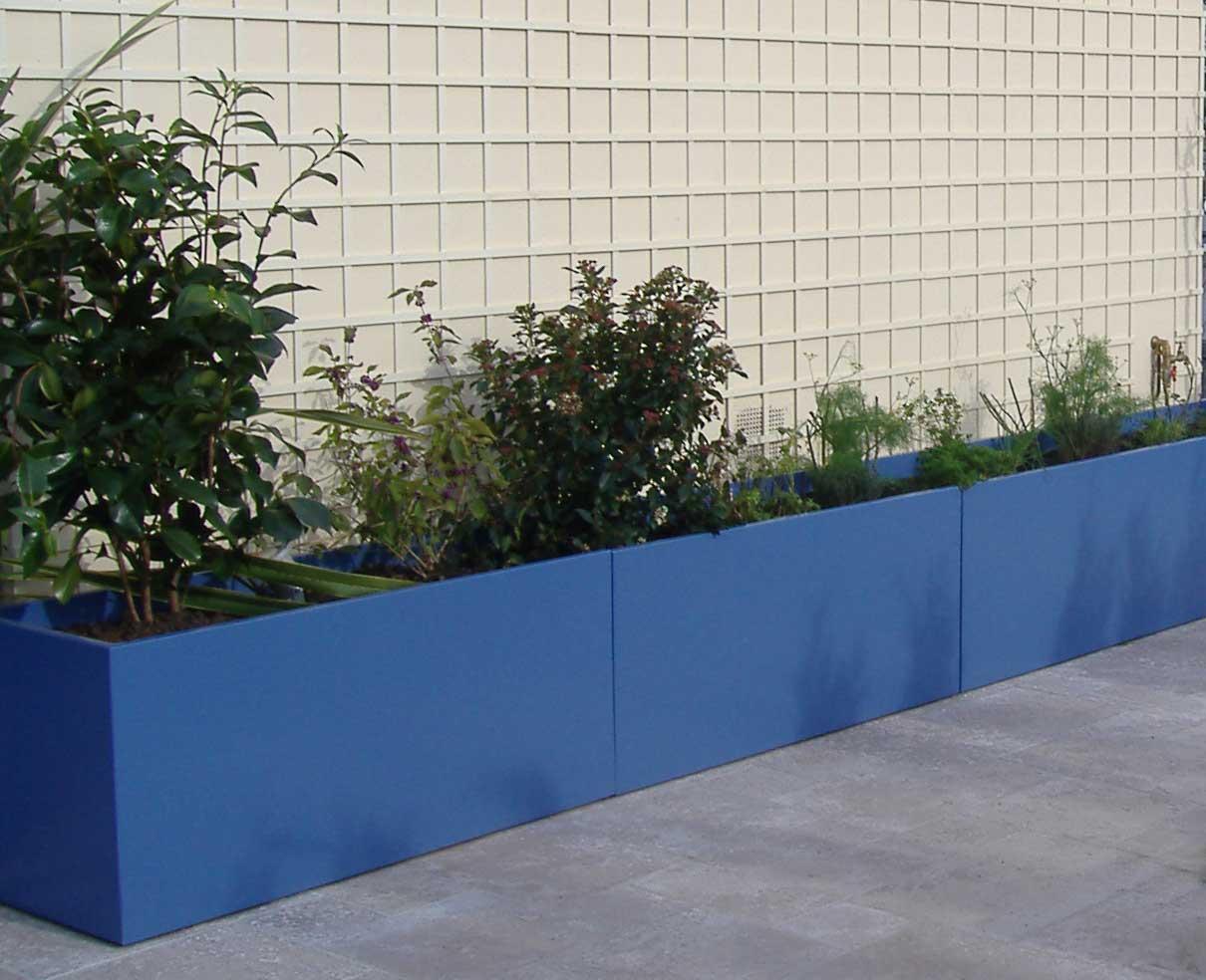 Image'In - Grande longueur jardinières filantes en linéaire