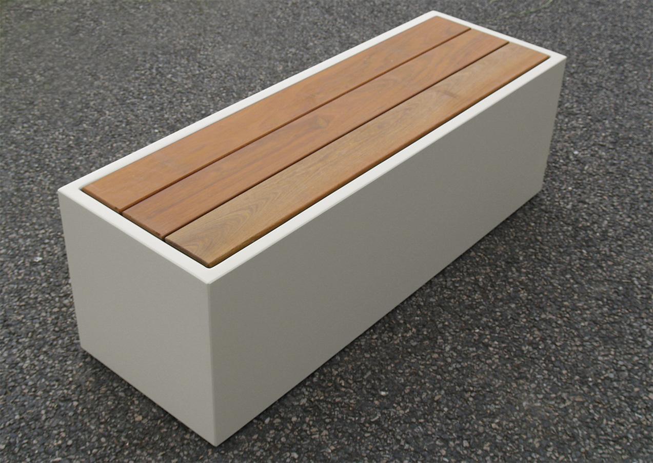 Coffre De Jardin En Fibre Ciment Image In Banc Et Rangement D Exterieur