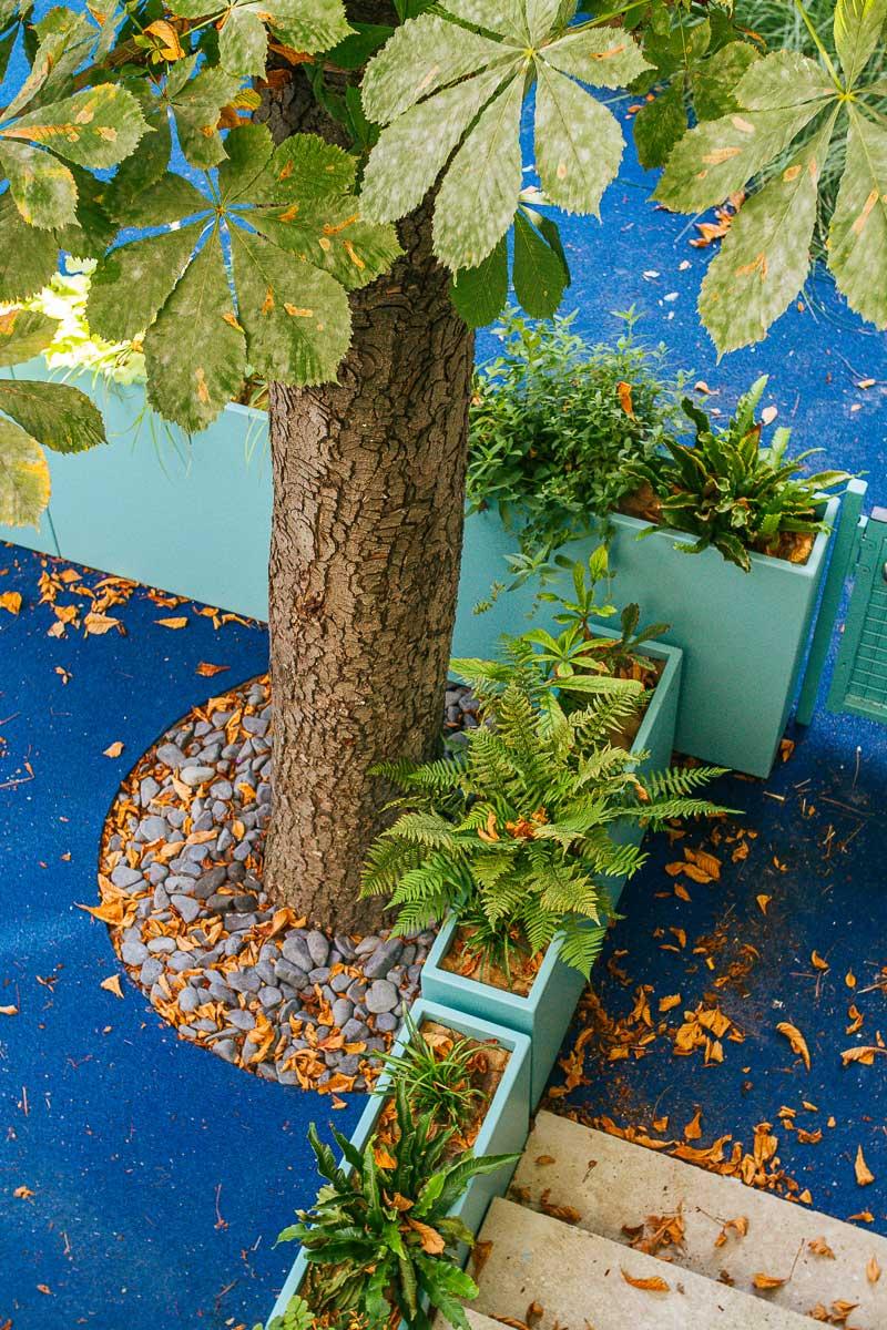 Séparation d'espaces avec des jardinières fines IMAGE'IN